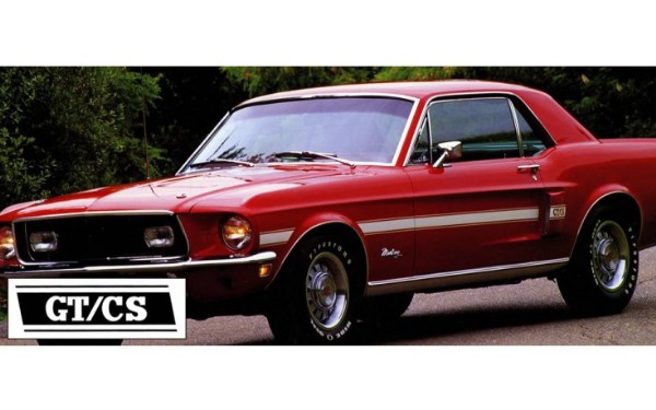 68 GT/CS STRIPE KIT RED