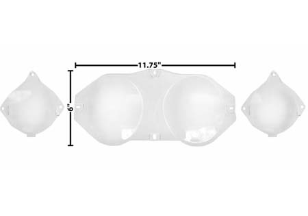 69-70 WITHOUT TACH INSTRUMENT BEZEL LENS SET - 3 PCS