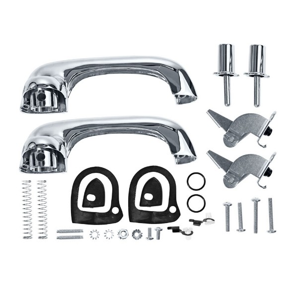 69-70 SHOW QUALITY OUTER DOOR HANDLE KIT - CHROME