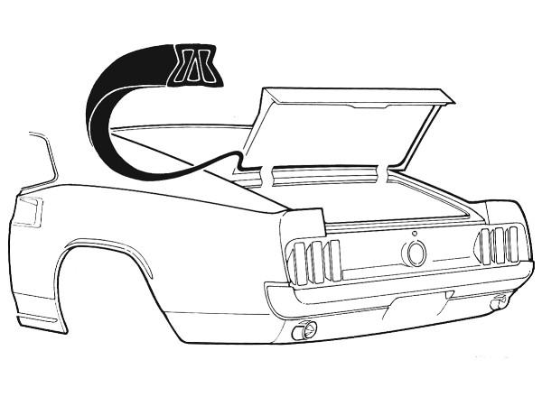 69-70 FASTBACK TRUNK WEATHERSTRIP