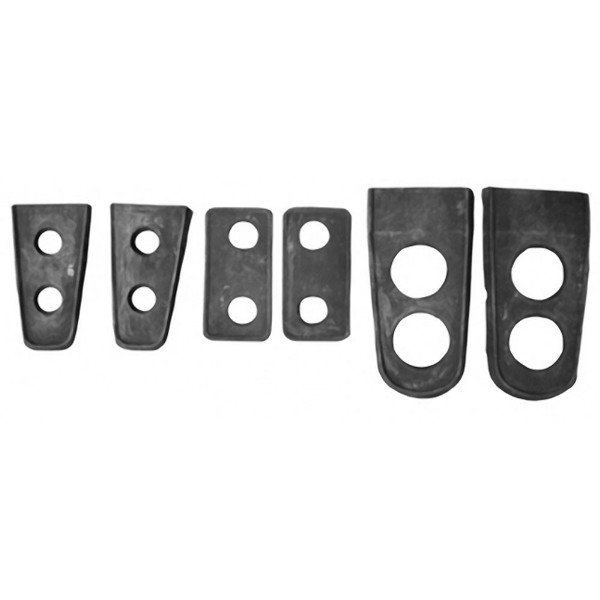 69-70 FASTBACK LATCHES AND HINGES LOUVER GASKETS - 6 PCS