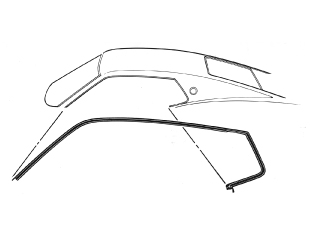 69-70 FASTBACK ROOF RAIL WEATHERSTRIP