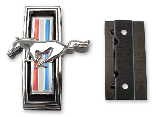 69 GRILLE EMBLEM ORNAMENT WITH MOUNTING HARDWARE