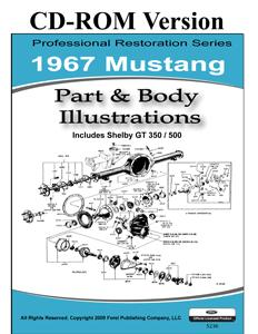 67 MUSTANG PARTS & BODY ILLUSTRATIONS
