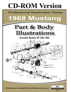 68 MUSTANG PARTS & BODY ILLUSTRATIONS