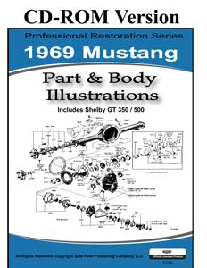 69 MUSTANG PARTS & BODY ILLUSTRATIONS