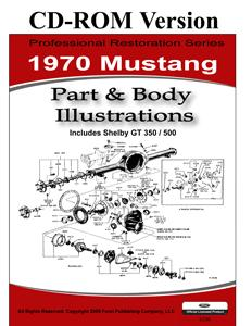 70 MUSTANG PARTS & BODY ILLUSTRATIONS