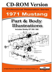 71 MUSTANG PARTS & BODY ILLUSTRATIONS