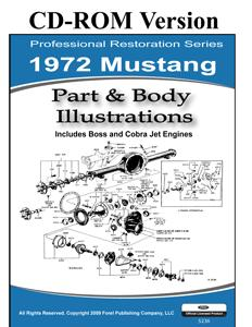 72 MUSTANG PARTS & BODY ILLUSTRATIONS