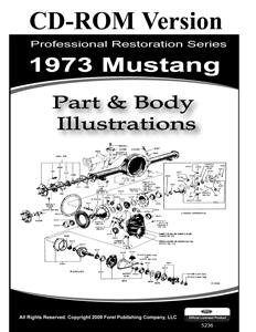 73 MUSTANG PARTS & BODY ILLUSTRATIONS