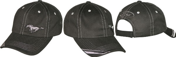 BLACK MUSTANG PONY HAT