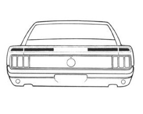 70 MACH 1 STRIPE KIT - BLACK - TYPE 6 TRUNK