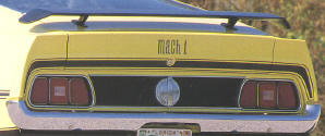 71-72 MACH 1 TRUNK STRIPE AND FENDER DECAL KIT - BLACK