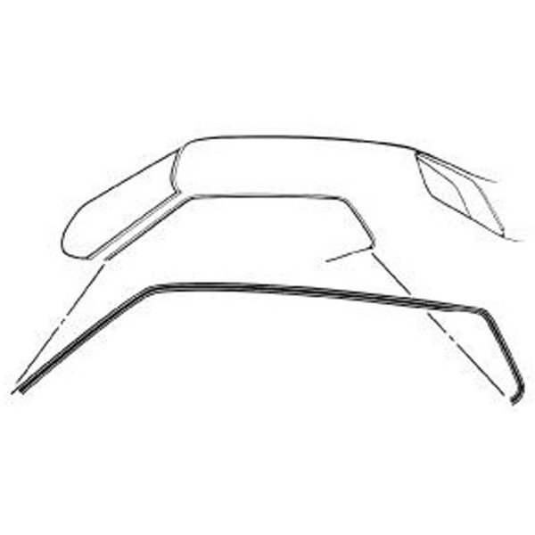 71-73 COUPE / FASTBACK ROOF RAIL WEATHERSTRIP