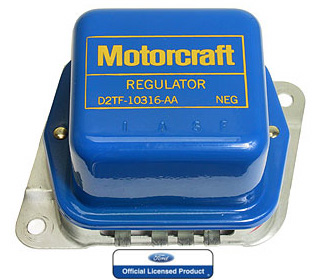 72 MOTORCRAFT VOLTAGE REGULATOR WITH A/C - BLUE / YELLOW