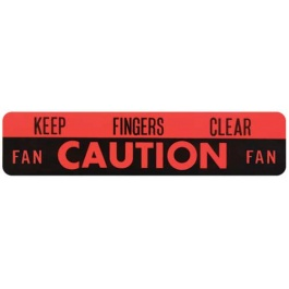 1960-63 CAUTION FAN DECAL