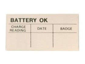 65-73 ASSEMBLY LINE BATTERY TEST OK DECAL