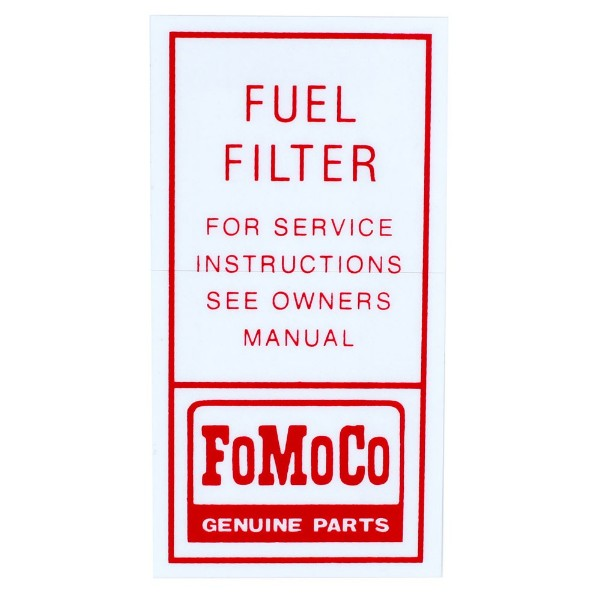 64-66 FUEL FILTER DECAL