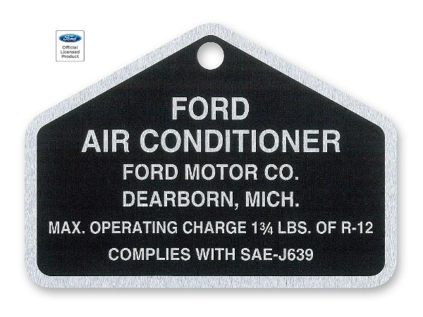 64-70 AIR CONDITIONER COMPRESOR TAG
