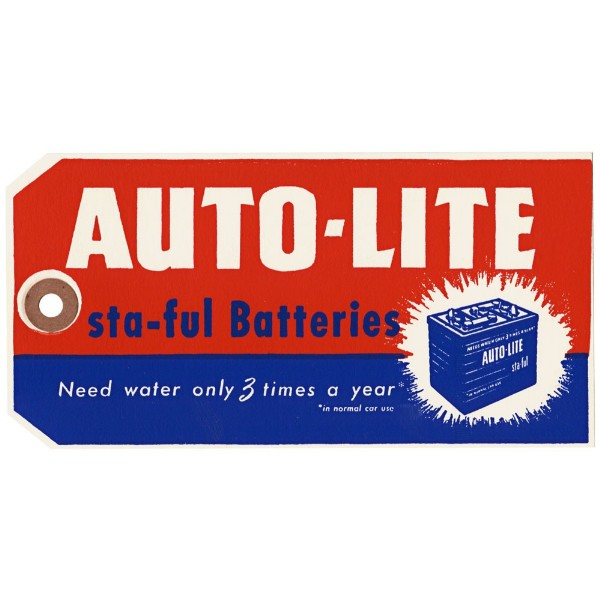 64-72 AUTOLITE STA-FUL BATTERY TAG