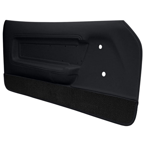 DOOR PANELS 71-73 DELUXE/MACH 1 BLACK WITH BLACK CARPET - TMI