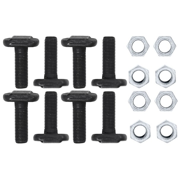 65-68 V8 AXLE RETAINER PLATES T-BOLTS AND NUTS - 16 PCS