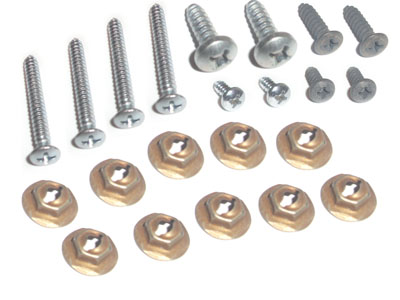 67 OEM FLOOR CONSOLE MOUNTING HARDWARE - 22 PCS