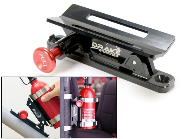 FIRE EXTINGUISHER MOUNT - BLACK