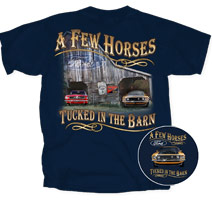 T-SHIRT - A FEW HORSES IN THE BARN - MEDIUM