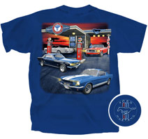 FORD GAS STATION ADULT TEE - METRO - X LARGE