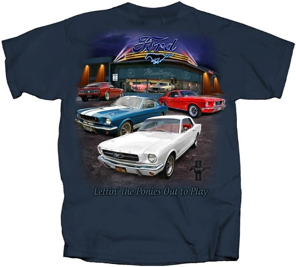 64-69 MUSTANG COLLECTION T-SHIRT, LARGE