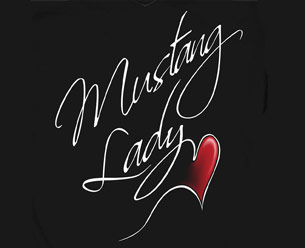 LADIES T-SHIRT - MUSTANG LADY - BLACK - SMALL