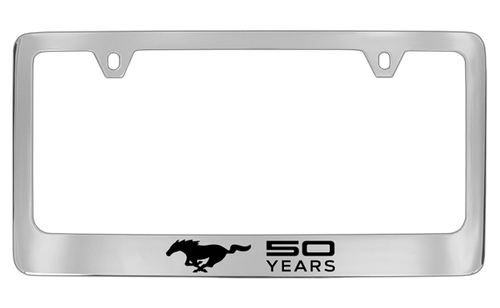 MUSTANG - 50TH ANNIVERSARY - LICENSE PLATE FRAME - CHROME PLATE