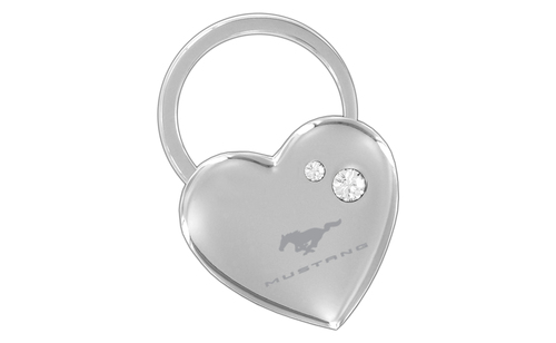MUSTANG - CHROME HEART SHAPE KEY CHAIN - CLEAR