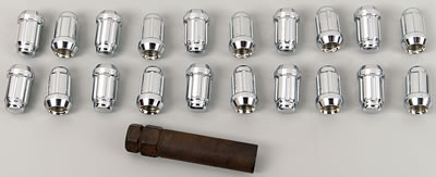 "1/2""-20 ACORN - CHROME LUG NUT KIT"