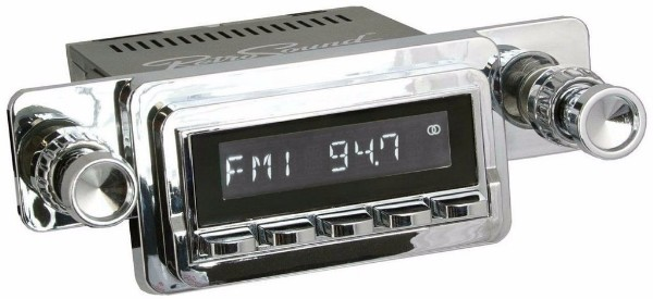 65-66 HERMOSA RADIO - CHROME FACE AND KNOBS