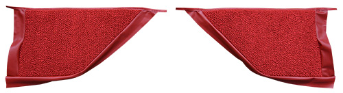 65-66 COUPE / FASTBACK KICK PANEL CARPET - EMBERGLOW