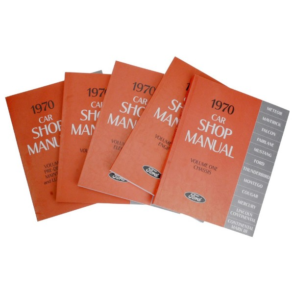 1970 SHOP MANUAL - 5 VOLUME SET