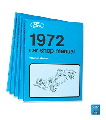1972 SHOP MANUAL - 5 VOLUME SET
