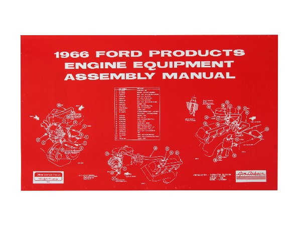 66 FORD PROD ENIGNE EQUIPMENT ASSEMBLY MANUAL