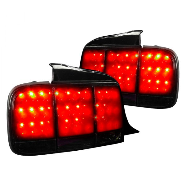 05-09 LED TAIL LIGHTS - GLOSSY BLACK HOUSING WITH SMOKE LENS