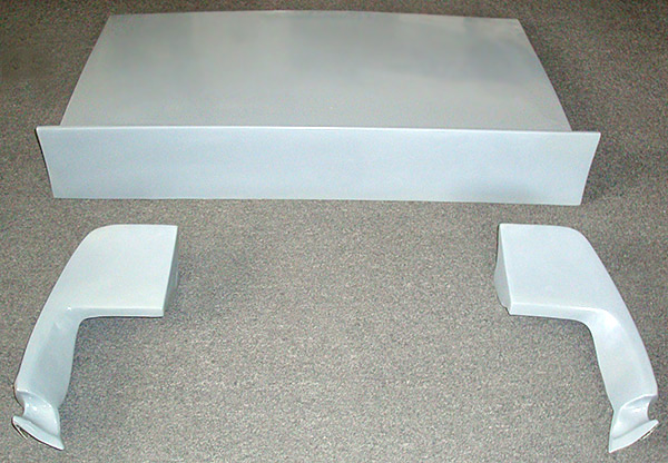 69 COUPE FIBERGLASS DECK LID AND QUARTER EXTENSIONS