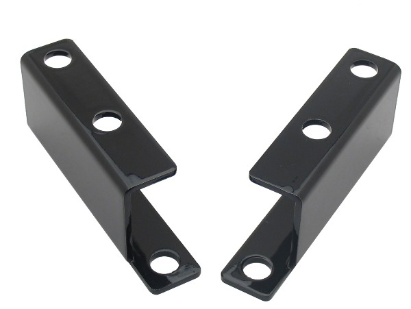 65-66 BLACK POWER BRAKE BOOSTER BRACKET - PAIR