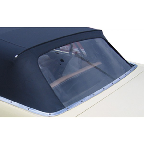64-66 CONVERTIBLE REAR WINDOW PLASTIC CURTIN - BLACK
