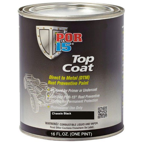 POR-15 CHASSIS COAT BLACK PAINT - QUART