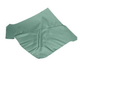 QUARTER TRIM UPHOLSTERY 65-68 COUPE TURQUOISE - TMI