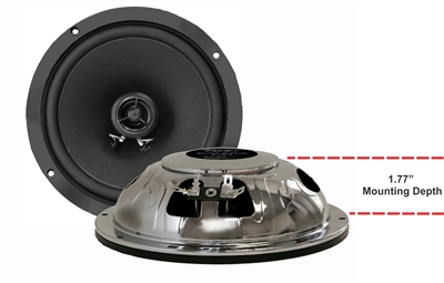 "6.5 ROUND SPEAKERS - PAIR - SHALLOW 1.77"" DEEP"