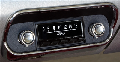 67-68 MODEL 2 RADIO - BLACK FACE -CHROME BEZEL - KIT