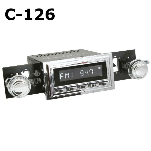 69-73 MODEL 2 RADIO - CHROME FACE AND BUTTONS - 08-80 KNOBS