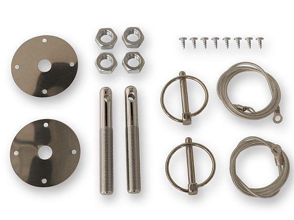 64-73 AFTERMARKET HOOD PIN KIT W/CABLE